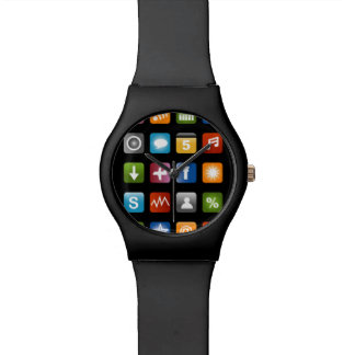 Fake smartphone watch with app icons