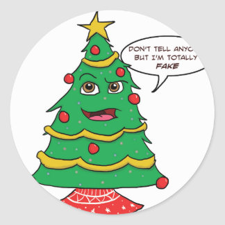 Fake Tree Classic Round Sticker