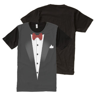 Fake Tuxedo Costume for Parents All-Over Print T-shirt