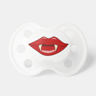 Fake Vampire Lips and Fangs Funny Baby Pacifier