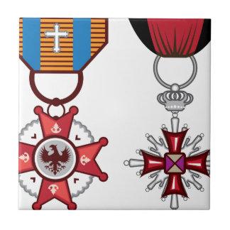 Fake vector Military Medals / orders Ceramic Tile