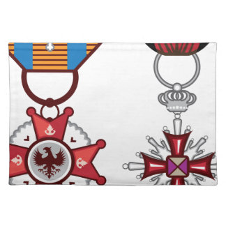 Fake vector Military Medals / orders Cloth Placemat