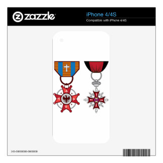 Fake vector Military Medals / orders Decals For The iPhone 4S