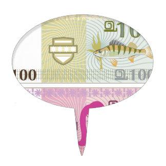Fake vector money cake topper