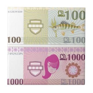 Fake vector money tile