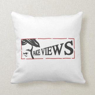 fake views throw pillow