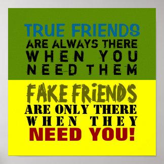 FAKE vs TRUE ~ 12X12 Poster