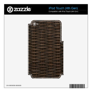 Fake Wicker iPod Touch 4G Decals