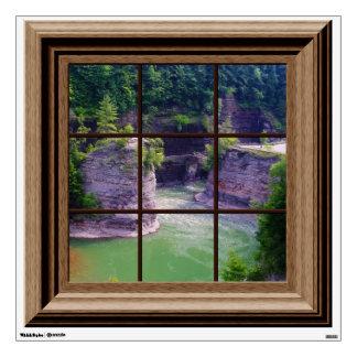 Fake Window Decal Genesee River Gorge Wall Mural
