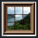 """Fake Window Decal Niagara Falls View Mural<br><div class=""""desc"""">Features a  faux  framed window with a view of Niagara Falls.  For more faux window murals visit the rest of this shop.</div>"""