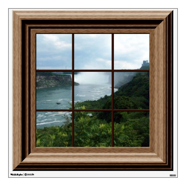 Fake Window Decal Niagara Falls View Mural
