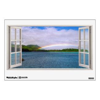 Fake Window Fiji Rainbow Wall Sticker