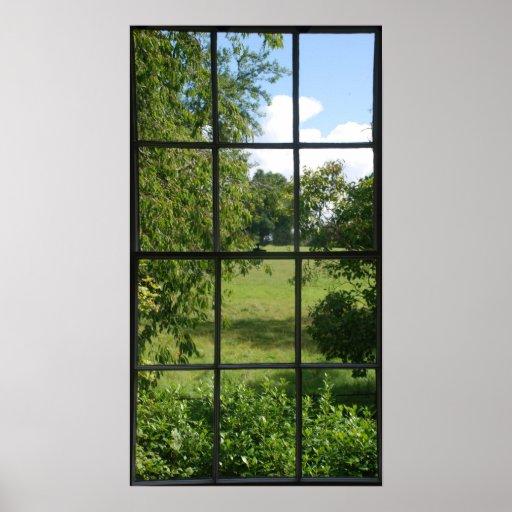 Fake window print