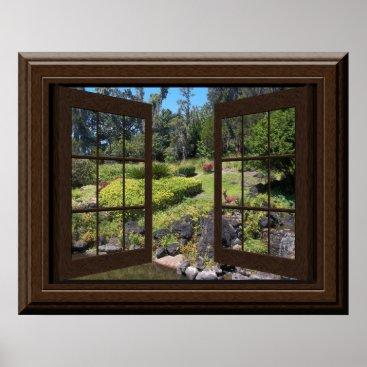 machomedesigns Fake Window Poster Peaceful Landscape Zen