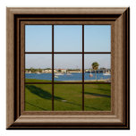 Fake Window Poster Sailboats St. Augustine Florida