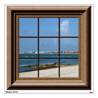 Fake Window View Ocean Beach Mexico Wall Decal