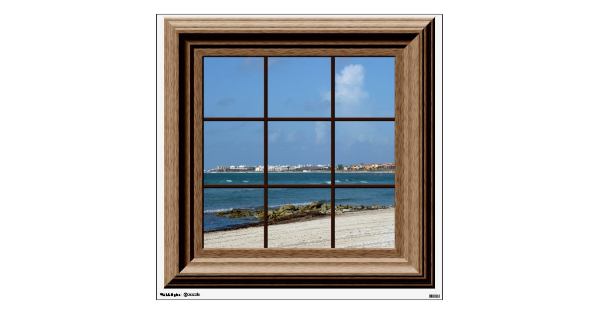 Fake Window View Ocean Beach Mexico Wall Decal Zazzle