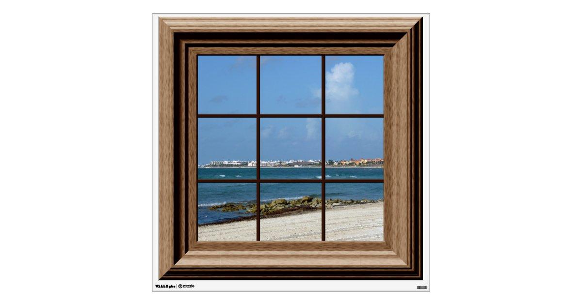 Fake Windows For Walls : Fake window view ocean beach mexico wall decal zazzle