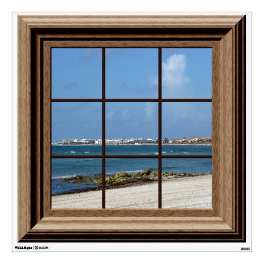 Fake Window View Ocean Beach Mexico Wall Decal
