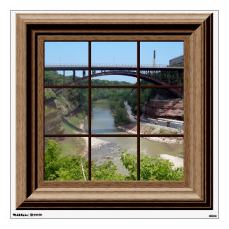Fake Window View Peaceful Canyon Wall Decal