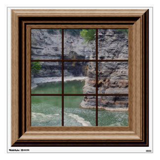 Fake Window View Relaxing River Gorge Landscape Room Decals