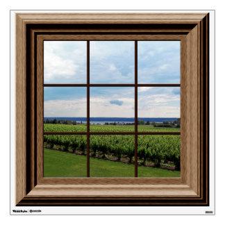 Fake Window View Relaxing Vineyard Wall Decal