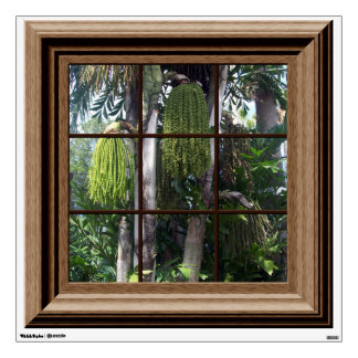 Fake Window View Tropical Trees Mural Wall Mural Wall Skin