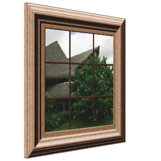 Fake Window View Tropical View Canvas Wall Art