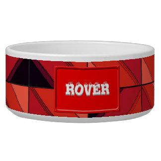Fake wood pattern dog water bowl