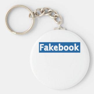 Fakebook Llavero Redondo Tipo Pin