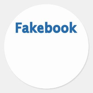 Fakebook Pegatina Redonda