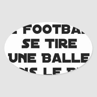 FAKED MATCHES, FOOTBALL SE DRAWS A BALL IN OVAL STICKER
