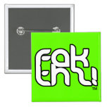 ¡fakthz! botón verde del logotipo pin