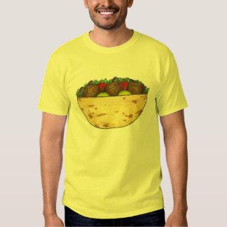 Falafel Pita Mediterranean Food Falafels Tee Shirt