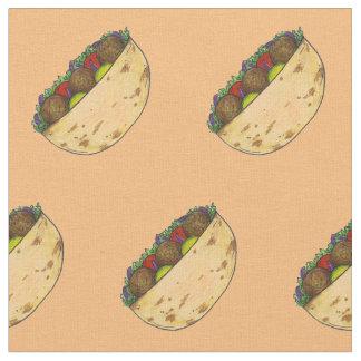 Falafel Pita Sandwich Mediterranean Foodie Fabric