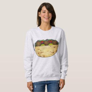 Falafel Stuffed Pita Falafels Food Sweatshirt