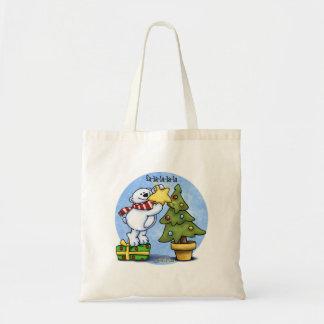 Falala Beary Christmas Bear Canvas Bags