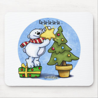 Falala Beary Christmas Bear Mouse Pad