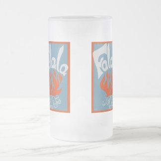 FaLaLa Frosted Glass Beer Mug