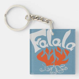 FaLaLa Single-Sided Square Acrylic Keychain