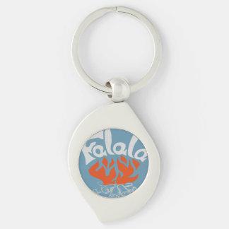 FaLaLa Silver-Colored Swirl Metal Keychain