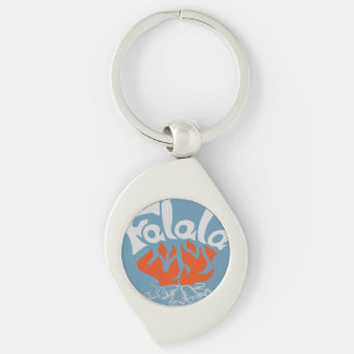 FaLaLa Silver-Colored Swirl Metal Keychain