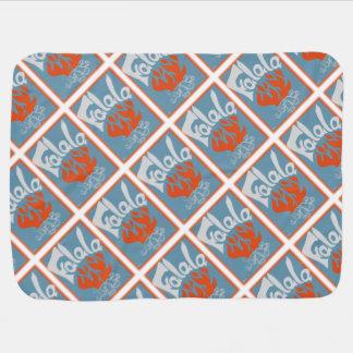 FaLaLa Vintage Block Print Receiving Blanket