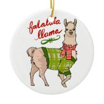 Falalala Llama Ceramic Ornament
