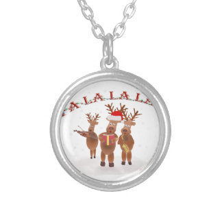 FALALALA.png Silver Plated Necklace