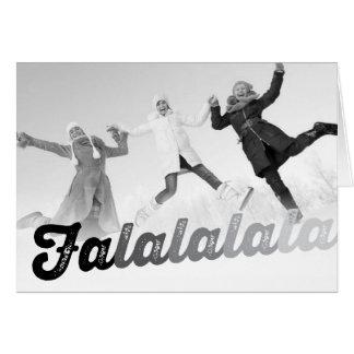 Falalalala Christmas Jolly Fun Holiday Photo Card