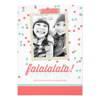 Falalalala Confetti Christmas Photo Card