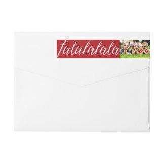 Falalalala Fun Photo Christmas Address Labels Wraparound Return Address Label