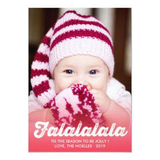 Falalalala Fun Script Christmas Holiday Photo Card