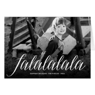 Falalalala Fun Simple Script Holiday Photo Card